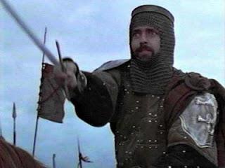 """O ator escocês Angus Macfedyen, representando o rei Robert The Bruce, no filme """"Coração Valente"""", de 1995. Imagem: Reprodução"""