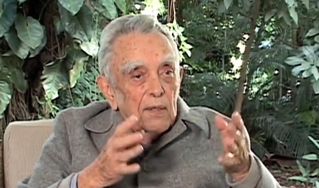 Paulo Nogueira Neto, professor de ecologia da USP e ex-secretário especial do Meio Ambiente do governo federal de 1974 a 1986, em entrevista ao Canal Brasil em 2012. Imagem: Canal Brasil/Reprodução