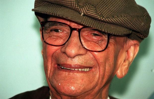 O médium Chico Xavier, que morou por 40 anos em Uberaba (MG), e morreu em 2002. Imagem: Flávio Florido/Folhapress