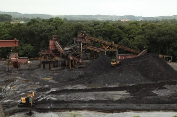 Mina de carvão no sul de Santa Catarina. Imagem: iriam Zomer/Agência AL