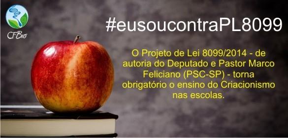 Ilustração do comunicado do Conselho Federal de Biologia contrário ao projeto de lei do ensino do criacionismo na educação básica brasileira. Imagem: Reprodução